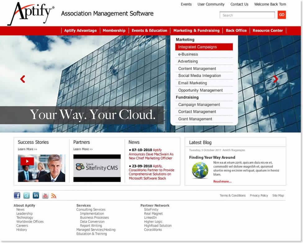 Aptify Website
